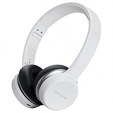 Phiaton Bluetooth Headphones On Ear, EverPlay-X Wireless Headset (30 Hours Play Time) Deep Bass Stereo, Foldable, Soft Earpads w/Built-in Mic and Wired Mode for PC Cell Phones TV - White