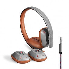 OVC Over-Ear Headphones, Enhanced Bass and HiFi Dual Mode Wired Headset with Microphone, Removable earcup, 7 Different Sizes for Kids Adults, Compatible with iPhone and Android Huawei Samsung