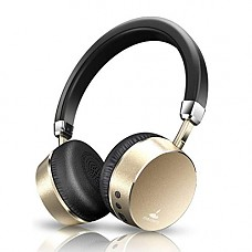 Meidong E6ANC Bluetooth Headphones Active Noise Cancelling Headphones Wireless Stereo Headphones with Microphone, Ergonomic Design for Kids Adult (Gold)