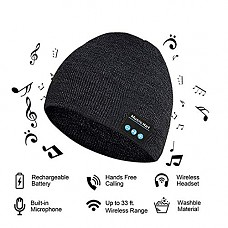 Upgraded V4.2 Bluetooth Beanie Hat LUXISE Headphones Wireless Headset Winter Music Speaker Hat Running Cap with Stereo Speakers & Mic Unique Christmas Tech Gifts for Women Mom Her Men Teens Boys Girls