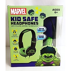 Hulk Headphones Lightweight Safe Sound, Excellent Quality Design- for Use with iPhone, Android, Gaming, Tv, Mac, Pc, Mp3-3.5mm Aux Stereo Headphones