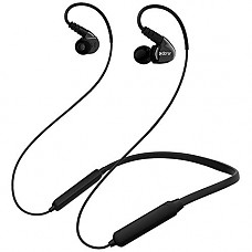 Adorer Bluetooth Headphones Neckband Over Ear in-Ear Sports Earbuds Wireless Earphones for Running Workout, Stay Put Ear Buds w/Mic and Volume, Headset for Cell Phones Laptop Tablet (Black)