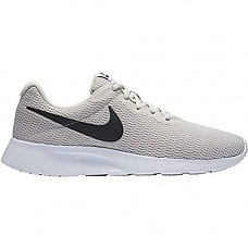 Nike Mens Tanjun Sneakers, Breathable Textile Uppers and Comfortable Lightweight Cushioning (7, Light Bone/Black-White)